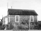 Miss Bloomer's house and health center, Naknek, 1948.