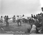 Eskimo Dance on Nome Beach, 1905.