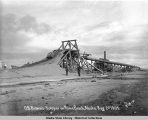 O.B. Brown's Scraper on Nome Beach, Alaska.  Aug. 2, 1905.