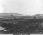 Winter dumps on Little Creek, Nome, Alaska.  May 20, 1906. Part A.