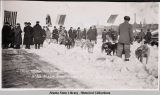 Start, Neuman, W.K. Johnson Entry. 6th All Alaska Sweepstakes, Nome, Alaska 1913.