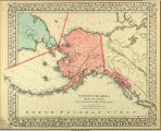 North western America showing the territory ceded by Russia to the United States.
