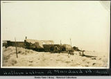 Natives cabins at Standard oil.  Nome.