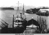Petersburg waterfront and Wrangell Narrows.