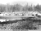 Beach settlement of the  Sum Dum [Sumdum] Chief  and Bald Eagle Mine at Sanford Cove, Endicott Arm...