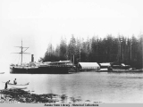 Steamship Ancon in Salmon Bay, Alaska 1886.