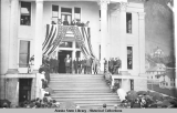 Governor Strong on steps of Court Building at his inauguration.  Juneau, 1913.