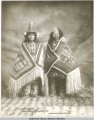 Stene-Tu and Kaw-Claa.  Two Thlinget wemen [women] in Chilkat-blankets.  Copyright 1906.