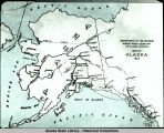 Map of Alaska. Dept. of Interior map. 1923.