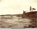 Boat landing below White Horse Rapids. c. 1898.