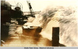 Rough weather in Bering Sea near Nome.