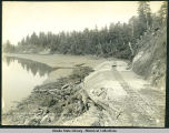 Cut in foreground at Sta. 209. Cont. Pete Bush, July 13, 1907. Cut in background at Sta. 220. ...
