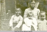 Indian mother and three children.