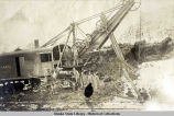 Katalla Company steam shovel and men.
