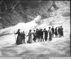 Excursion to Denver Glacier. Skagway Alaska. July 14, 1908.