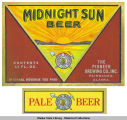 The Pioneer Brewing Co., Midnight Sun Beer & Pale Beer Labels