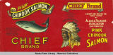 Alaska Packers Association, Chief Brand Pink Chinook Salmon