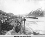 View from Mexican head frame showing part of Treadwell with Douglas City and Juneau in the...