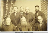 Group portrait of seven men at Kodiak, ca. 1892.