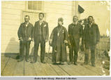 Group of five men at Seldovia in 1900.