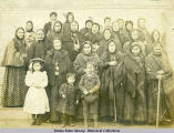 Group portrait of women and children from the Unalaska church.