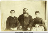 Semen Alteevich Liamovladav or Memovladov (?), center; his wife Matrona, left and daughter,...