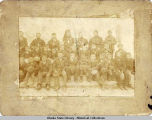 Group portrait of Unalaska Russian Orthodox congregation at the time of Bishop Tikhon's visit.