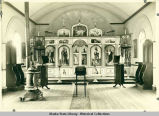 Interior view of Church of St. Savva of Serbia (Orthodox) in Douglas.