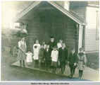 Students of the Sunday School with Father Andrew Petrovich Kashevaroff.