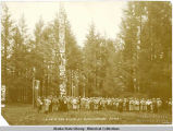 L.A Ch. [Chamber] of Com. [Commerce] Group at Battleground, Sitka.