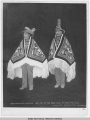 Chief Annihootz [Annahootz] and Klonish, head men of the Bear Clan at Sitka potlatch.  Copyright...