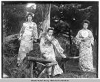 Vera, Neenah, and Nellie in Japanese costumes.