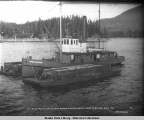 Thlinket Packing Co., Str. Anna Barron with two scow loads of salmon. Aug. 2 1907.