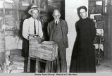 Michael Vinokouroff, Waldemar Jochelson and Rev. Nicholas J. Kedroff in the Saint Nicholas...