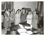 Michael Vinokouroff with unidentified co-workers at Library of Congress.  Michael Vinokouroff,...