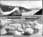 P.C. Co. Strs. Spokane and City of Seattle. Taku Glacier, Alaska. Copyright 1910.