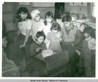 Alex Sinyou's Birthday Party. Gulkana Territorial School 1949.