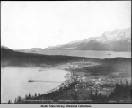 Haines and Ft. Wm. H. Seward from Mt. Rippinsky [Ripinski].  Pyramid Harbor and Davidson Glacier...