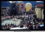 Celebration of Statehood - July 4, 1959. Gathering at Juneau Library.
