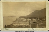 View of Sitka and Native Village. c. 1880.