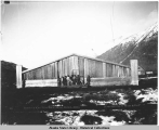 Exterior of Chief Klart-Reech's House, Chilkat, Alaska. c. 1895.