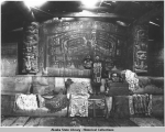Interior of Whale House of Chief Klart-Reech, Klukwan,Alaska. c. 1895.
