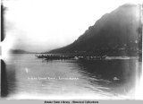 Indian Canoe Race- Juneau, Alaska. c. 1900.