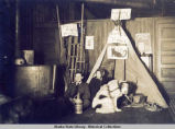 Duke Harris tent in Northern Saloon, Seward.