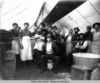 Cooks and waiters at Camp of White Pass, Ak.
