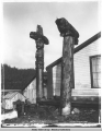 Chief Shakes's Totems, Fort Wrangle [Wrangell], Alaska. copyright 1895.