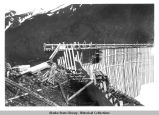 Pouring concrete - Last section of Salmon Creek Dam.