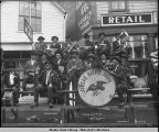Thlinget Band. Juneau. July 4th 1907.