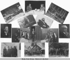 Composite of thirteen photos related to Soapy Smith and Frank Reid, 1898.