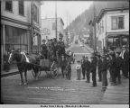 Dolly Gray on his wedding tour. Juneau, Alaska. June 5, 1908.